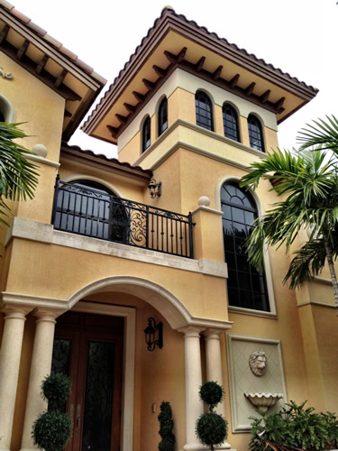 hurricane window installed in Palm Beach home